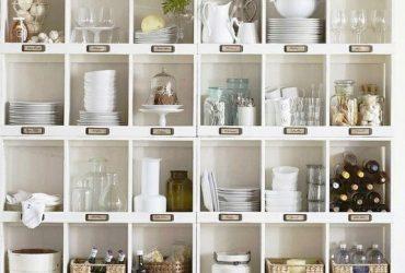 Inspiração do dia – armário das louças em ordem