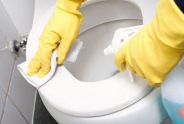 Rotina de limpeza do  banheiro