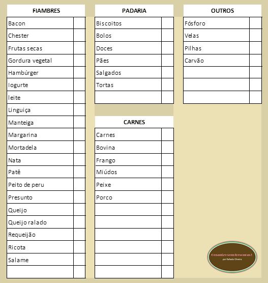Muito Organize sem Frescuras | Rafaela Oliveira » Arquivos » Lista de  YA66