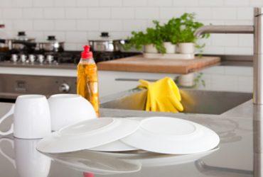 Rotina de limpeza da cozinha
