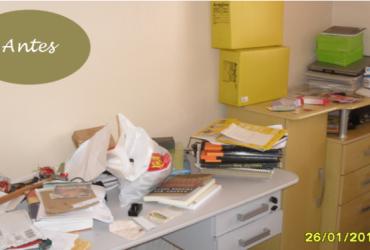 Meu cantinho- escritório organizado (antes e depois)