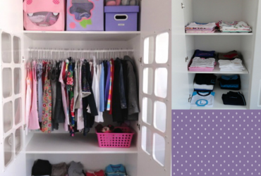 Dicas lá de casa- organizando o armário da minha filha