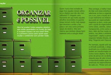 Matéria na Revista Viva Melhor: organizar é possível!
