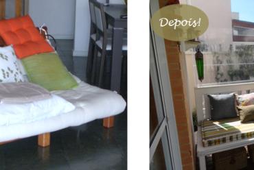 Antes e depois: Sofá X Banco