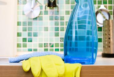 Limpeza rápida da cozinha