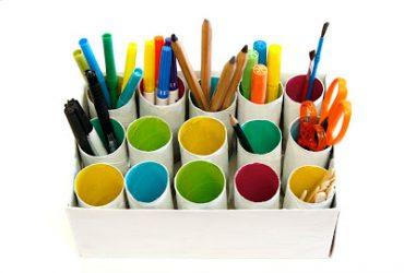 Reutilize rolos de papel para organizar, decorar e encantar!