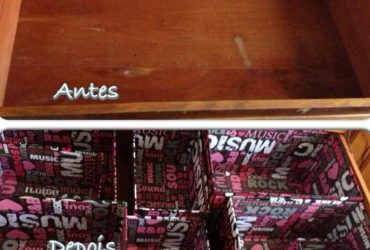 Meu cantinho-  caixinhas organizadoras de gaveta