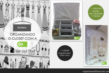 Sorteio: organizando o closet com a Coza