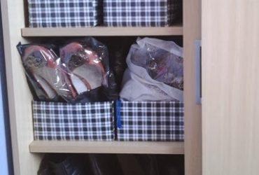 Meu cantinho: organização de sapatos