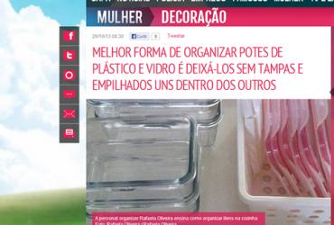 Matéria jornal Extra: Dicas para organizar os potes e utensílios de cozinha