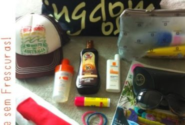 O que levar na bolsa de praia?