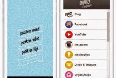 Aplicativo gratuito do Organize sem Frescuras! para smartphone