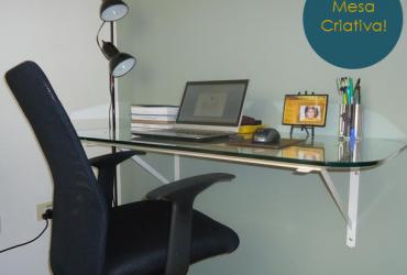 Meu Cantinho: mesinha do Home Office criativa e sustentável