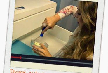 Matéria para ÓTV (RPC): Decorar gastando pouco- aplicação de tecido e papel adesivo na casa