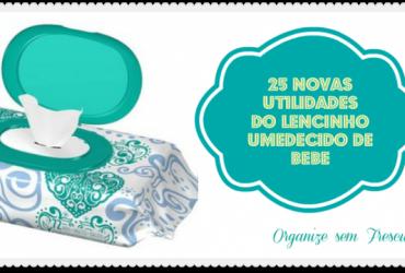 25 novas utilidades do lencinho umedecido de bebê