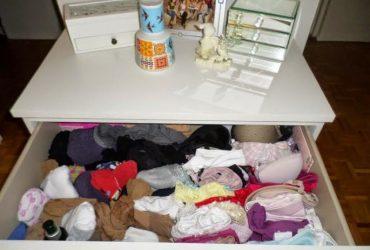 Meu Cantinho- gaveta de lingeries organizada e prática!