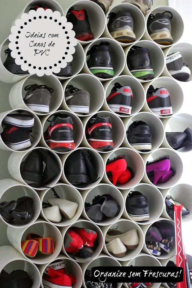 Ideias criativas utilizando canos de PVC