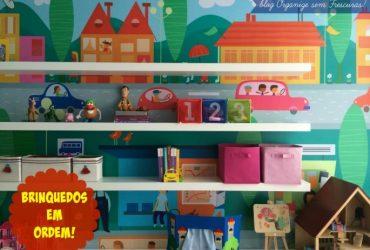 Vídeo- Nova Brinquedoteca: dicas de organização dos brinquedos e decoração do quarto