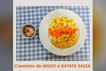 Receita de papinha de bebê- Creminho de Milho e Batata Salsa
