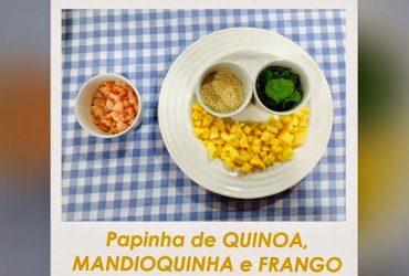 Receita de papinha de bebê- Quinoa, Mandioquinha e Frango