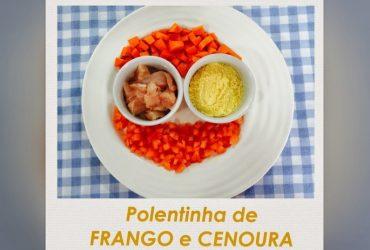 Receita de papinha de bebê- Polentinha de frango e cenoura