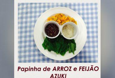 Receita de papinha de bebê- feijão azuki e arroz