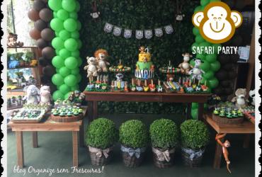 Safari Party- decoração de aniversário criativa e original