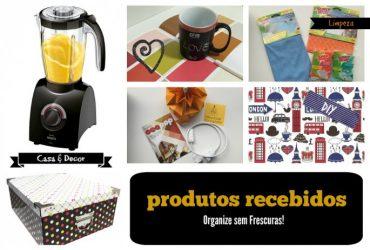 Produtos recebidos- Organização, Decor, Limpeza e DIY