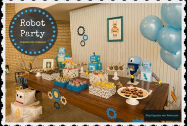 Robot Party: Decoração do aniversário de 1 ano do meu filho Arthur