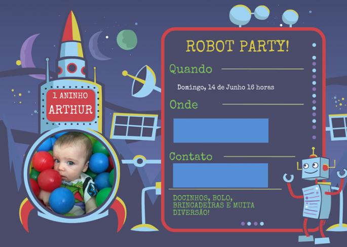 Convite Arthur blog