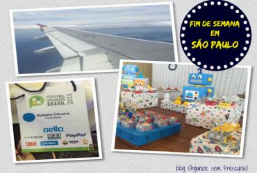 Vlog- Fim de semana em São Paulo- Congresso de organização, amigos e níver de 1 ano do Arthur