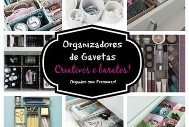 Ideias de organizadores de gavetas criativos e baratos