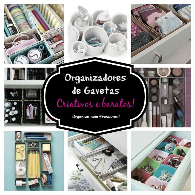 Organizadores de gavetas criativos e baratos