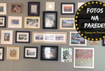 Vlog Decor: Composição de quadros de fotos na parede