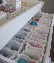 Meu Cantinho- Organização das roupas e itens do bebê