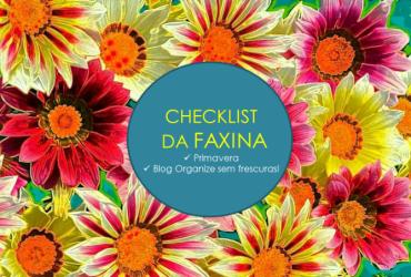 Checklist de faxina da Primavera