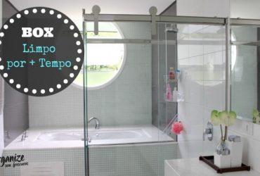 Box do banheiro limpo e sem manchas por mais tempo com Cristalizador de Vidro