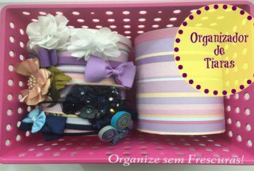 Faça Você Mesmo- Organizador de Tiaras com canos de PVC