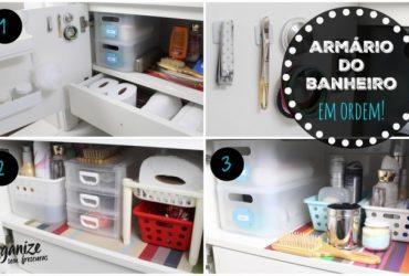 3 ideias Criativas e Baratas de organizar o armário do Banheiro