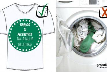 Erros X Acertos na hora de Lavar as Roupas