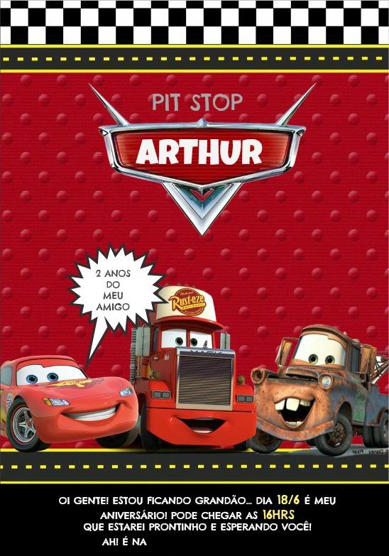convite arthur 2 ANOS blog