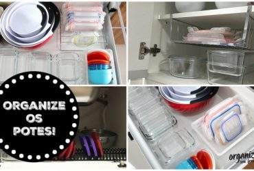 Formas diferentes e criativas de organizar os Potes de Cozinha