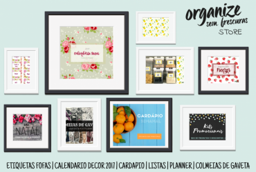 Loja Virtual Organize sem Frescuras | Papelaria Digital e Produtinhos Fofos para você organizar com estilo!