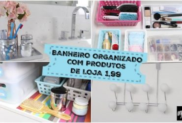 Banheiro Organizado com Produtos TOP de Lojas de Utilidades (1,99)