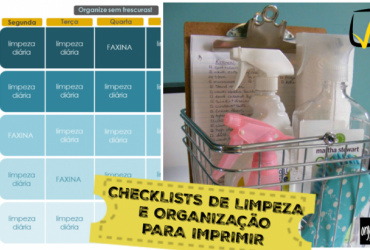 Checklists de Limpeza e Organização para imprimir