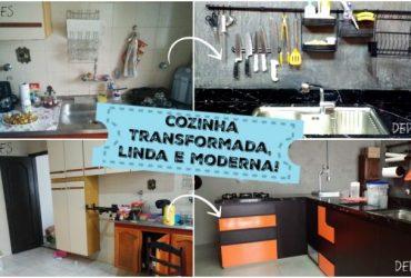 Cozinha transformada, linda e moderna : seguidora Monique Stefani