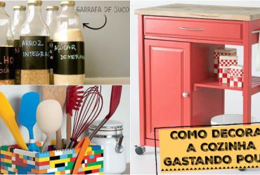 Como decorar a Cozinha gastando pouco- ideias do Pinterest