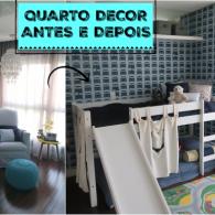 Decoração do quarto de criança: antes e depois
