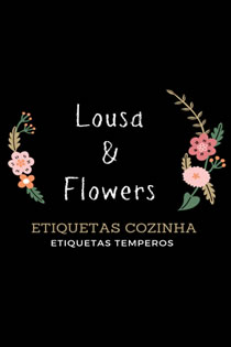 Etiquetas de Alimentos e Temperos Lousa & Flowers
